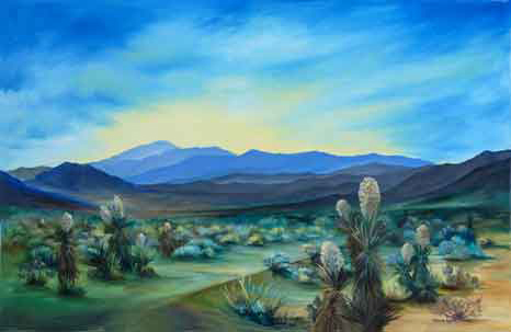 Mojave Desert Yucca oil painting